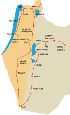 Cartina Di Israele E Giordania.Easy Israel Viaggi Personalizzati Fly Drive Israele E Giordania